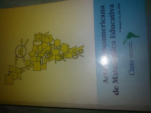 libro acta latinoamericana de matematica educativa, volumen