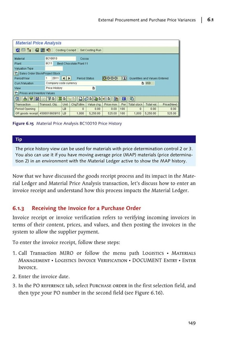Libro Actual Costing With The Sap Material Ledger