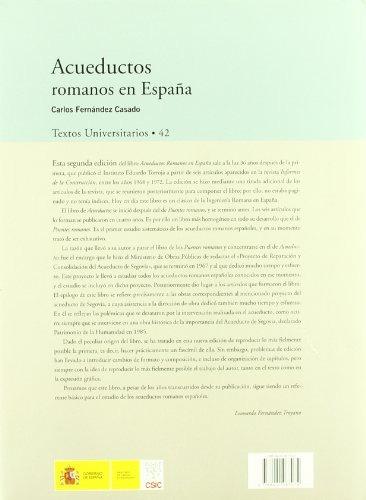 libro acueductos romanos en españa - nuevo