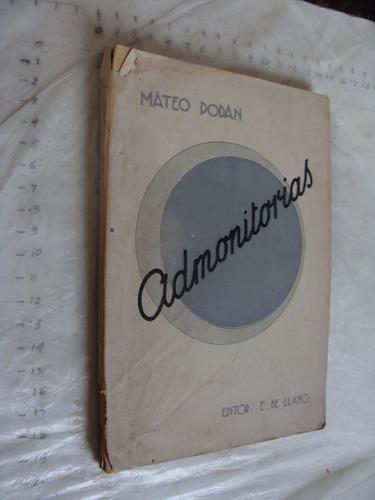 libro admonitorias , mateo podan , 200 paginas