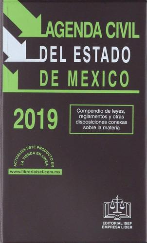 libro agenda civil del estado de méxico 2019 compendio leyes