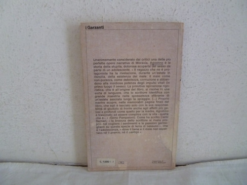 libro agostino  , moravia  garzanti