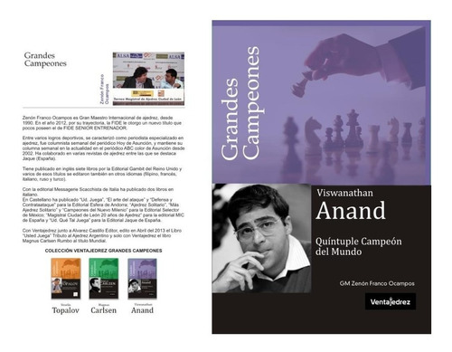 libro ajedrez-viswanathan anand-quintuple campeon del mundo