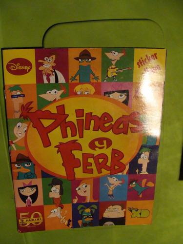libro album phineas y ferb , sin estampas