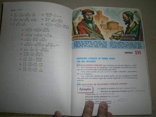 libro algebra de baldor