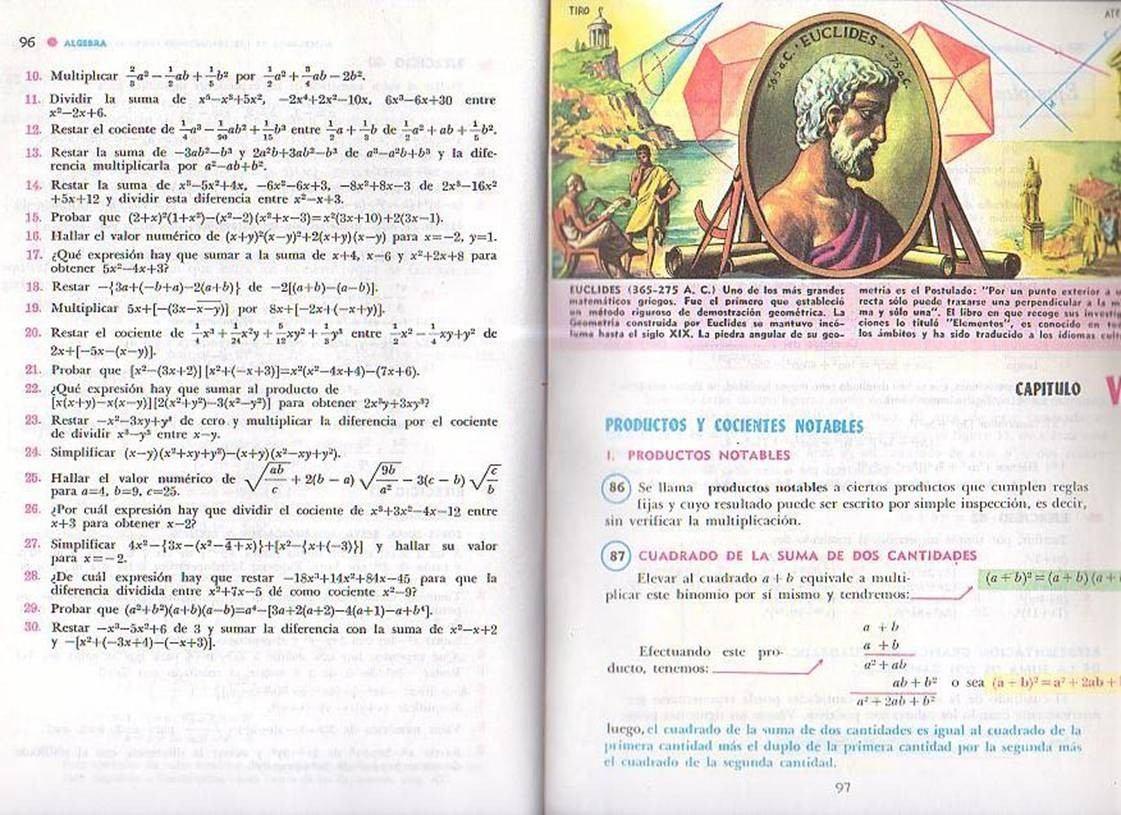 Libro Algebra De Baldor A Todo Color En Pasta Dura De Oferta - U$S 9 ...