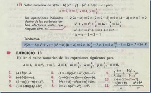 libro álgebra de baldor + ejercicios resueltos en pdf