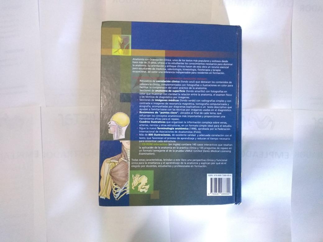 Libro Anatomía Con Orientación Clinica 5ta Edición - $ 720.00 en ...