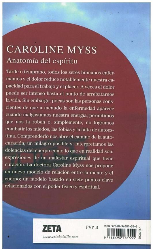 Libro, Anatomía Del Espíritu De Caroline Myss. - Bs. 13.500.000,00 ...