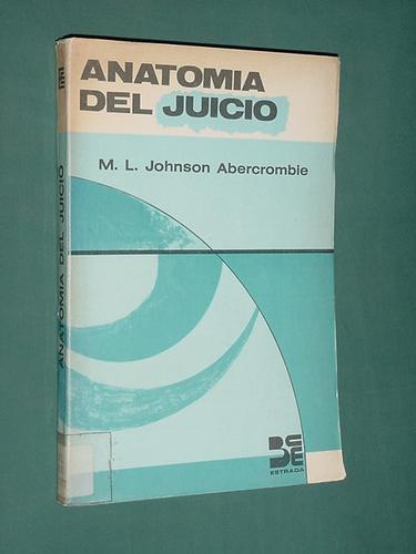 Libro Anatomia Del Juicio Johnson Abercrombie Estrada 1969 - $ 79,80 ...