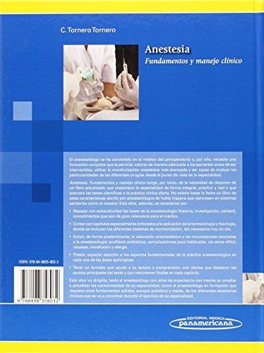 libro anestesia: fundamentos y manejo clínico - nuevo