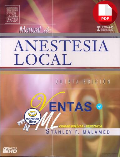 libro anestesia local odontología quinta 5° edición stanley