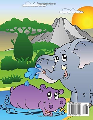 Libro Animales De Safari Libro Para Colorear 1 Volume 1