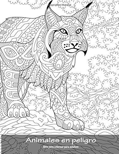Libro Animales En Peligro Libro Para Colorear Para Adultos