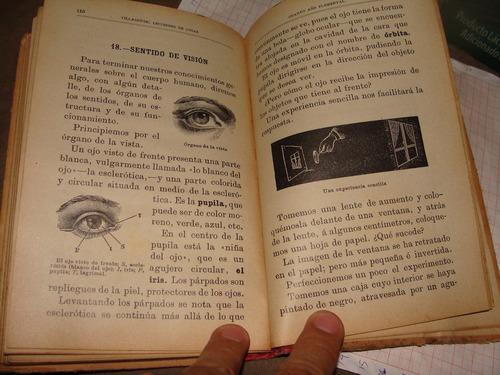 libro antiguo 1909, lecciones de cosas, cuarto año elementa