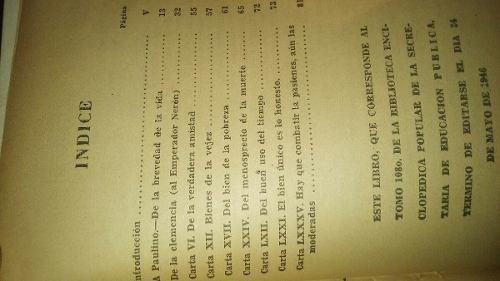 libro antiguo 1946 trozos escogidos lucio anneo seneca