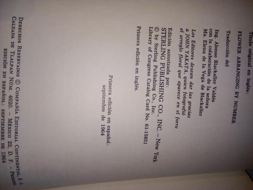 Libro Antiguo 1964 Arreglos Florales Por Número Peggy Bohem 24900