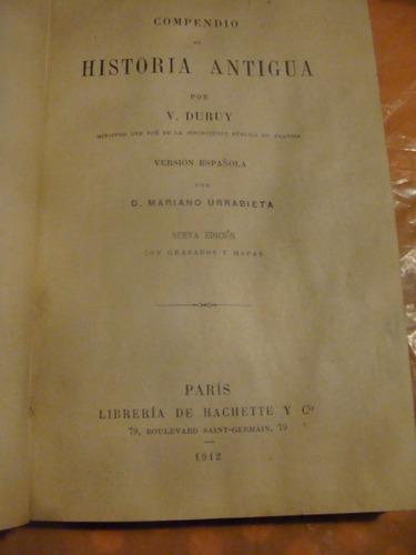 libro antiguo año 1912 , compendio de historia antigua por v