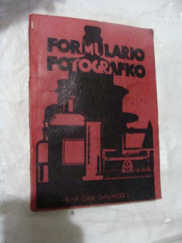 libro antiguo año 1937 , formulario fotografico , enrique ga