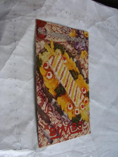 libro antiguo bimbo haga sabrosos sandwiches