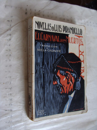 libro antiguo , el carnaval de muertos , luis pirandello , 2