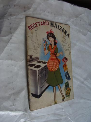 libro antiguo recetario maizena , 40 paginas