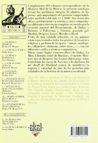 libro antología de la música del renacimiento - nuevo