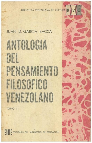 libro antología del pensamiento filosofico juan garcía bacca
