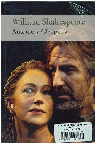 libro, antonio y cleopatra de william shakespeare.