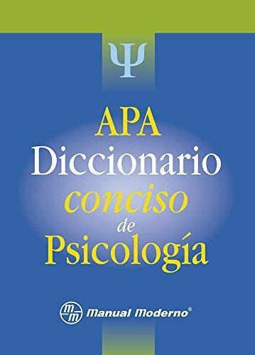 libro apa: diccionario conciso de psicología - nuevo