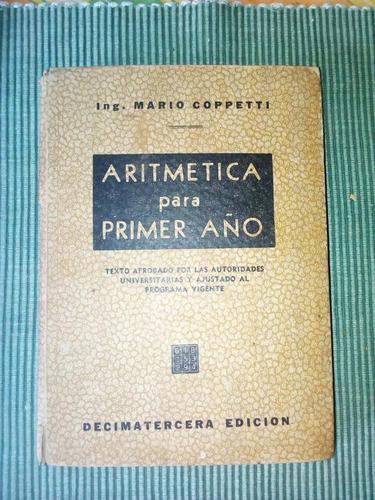 libro aritmetica para primer año coppetti