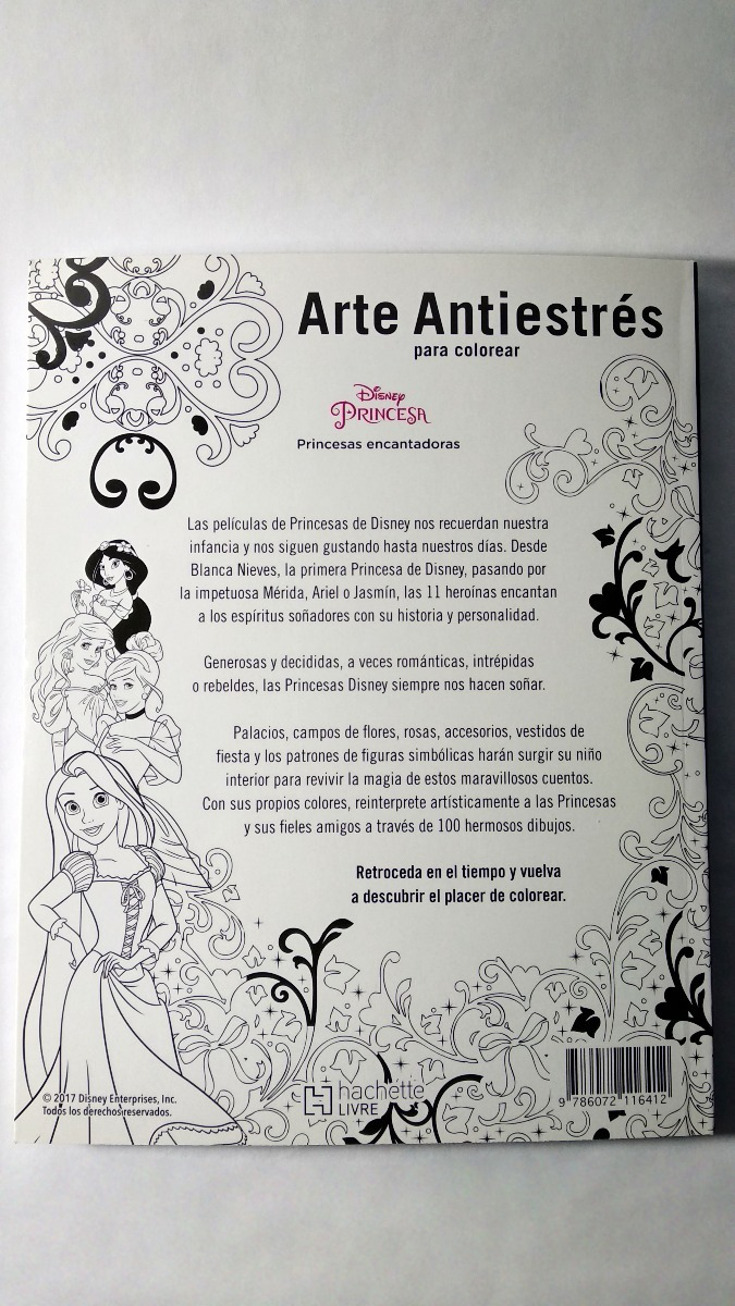 Libro Arte Antiestrés Disney Princesas Encantdoras Mandalas ...