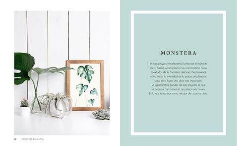 libro arte botánico con acuarela 20 proyectos