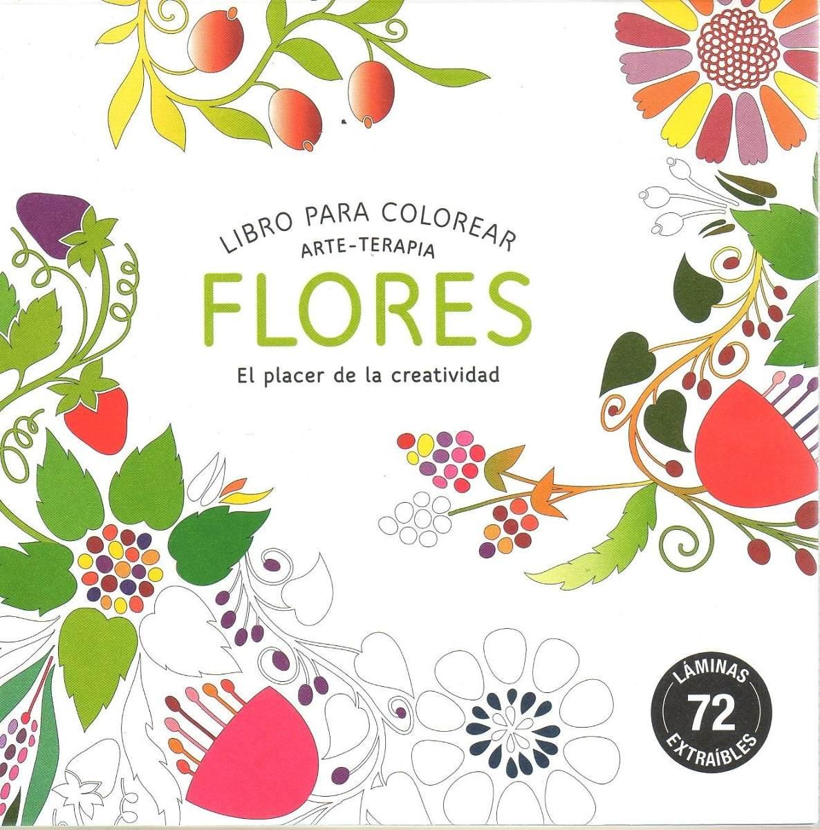 Libro: Arte Terapia Flores (libro Para Colorear) - $ 390,00 en ...