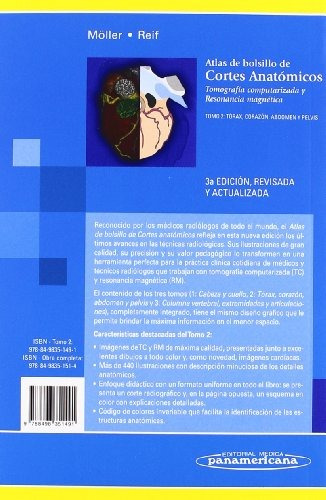 libro atlas de bolsillo de cortes anatómicos: tomografía -