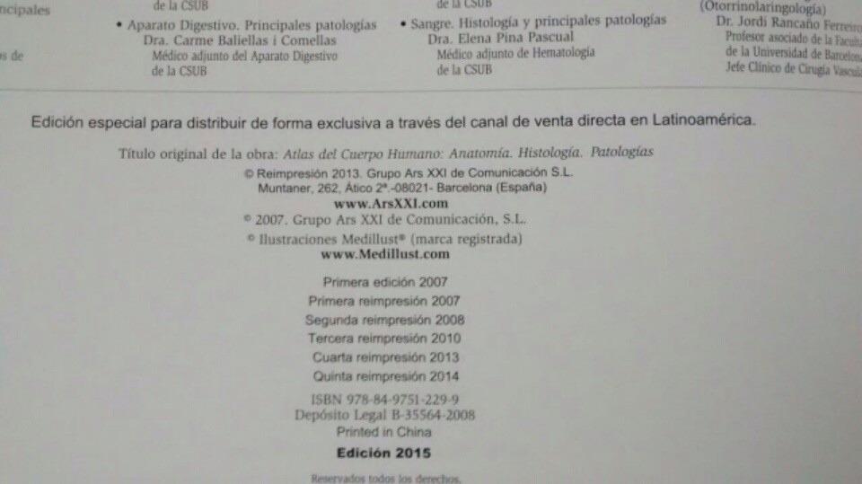 Libro: Atlas Del Cuerpo Humano Anatomia Fisiología Patología ...
