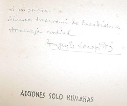 libro augusto scarpitti acciones humanas 1940 firmado autor