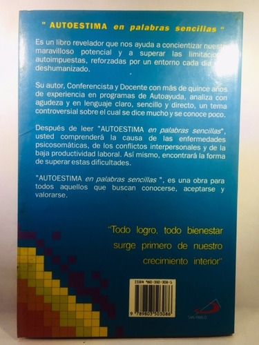 libro autoestima en palabras sencillas de renny yagosesky