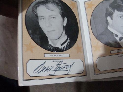 libro autografos de  artistas de los 80s , en albun caza aut