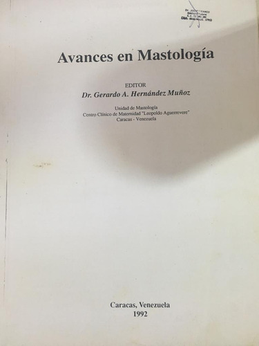 libro avances en mastologia.