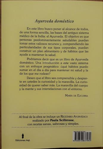 libro ayurveda doméstico autora maria de ezcurra