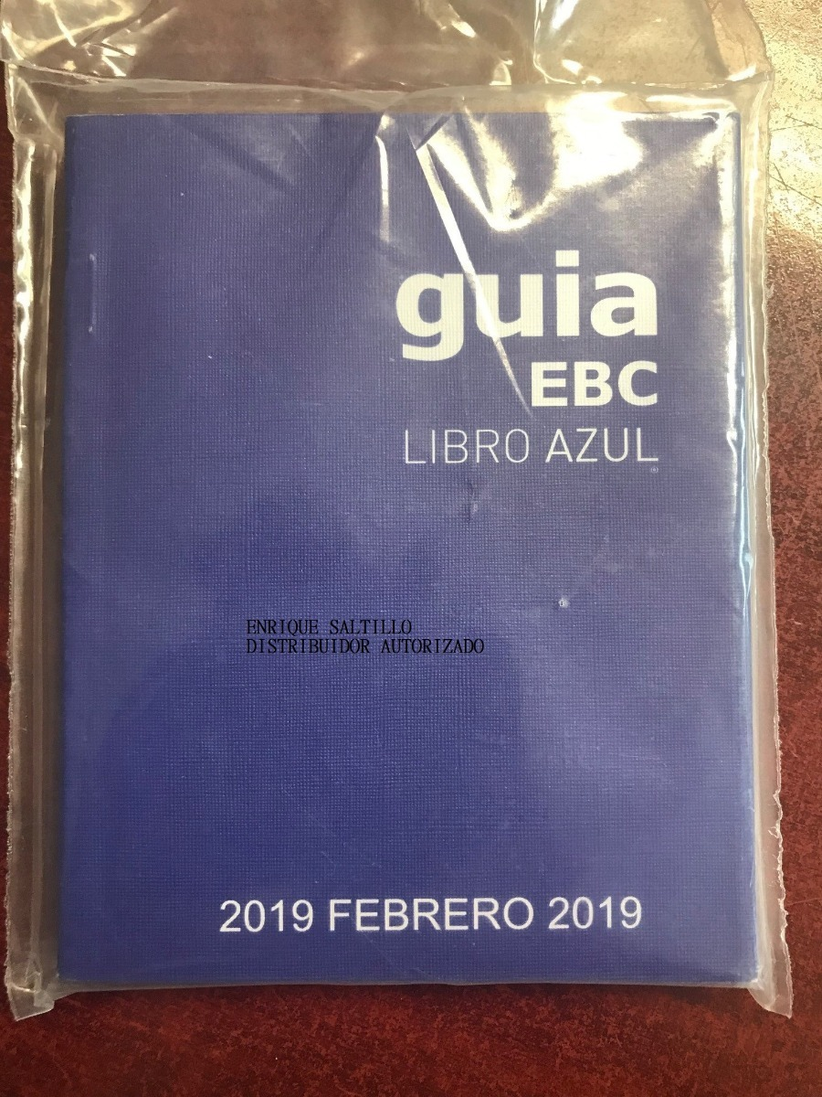 libro azul guia ebc junio 2019 envio incluido