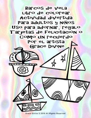 Libro : Barcos De Vela Libro De Colorear Actividad Divert... - $ 779 ...