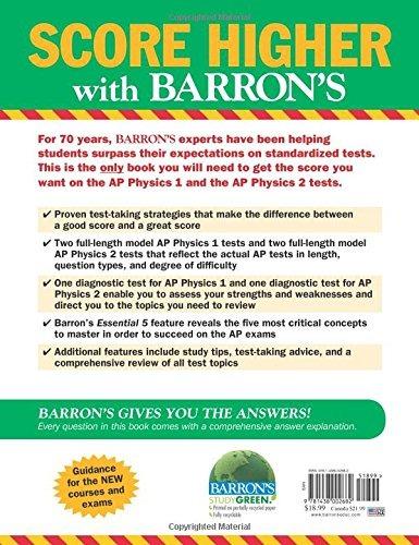 libro barron's ap physics 1 and 2 - nuevo