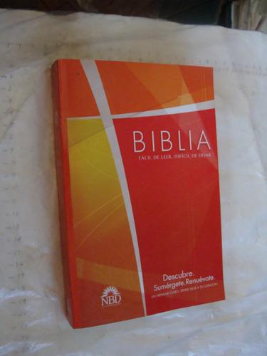 libro biblia facil de leer dificil de dejar  , 182 paginas ,