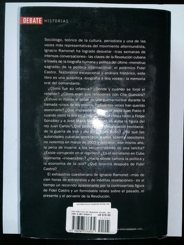 libro biografia,   de fidel castro , con cd. una joya , rema