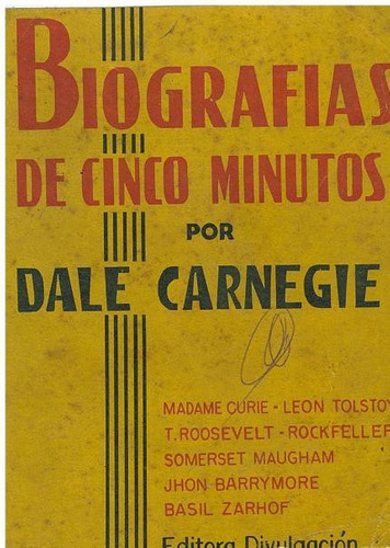 libro, biografias de cinco minutos por dale carnegie.