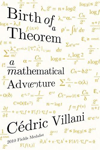 libro birth of a theorem: a mathematical adventure - nuevo