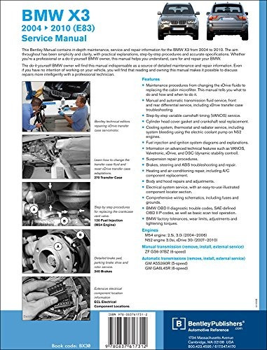 libro bmw x3 e83 service manual 2004 2005 2006 2007 2 rh articulo mercadolibre com mx 2005 BMW X3 Service Manual 2005 BMW X3 Service Manual
