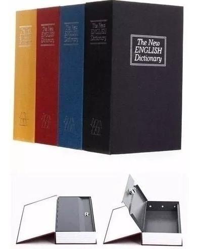 libro caja fuerte camuflaje diccionario varios colores18cm